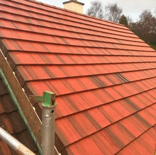 New tile re-roof services in Glasgow