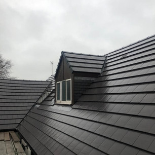 New tile roof replacement in Glasgow