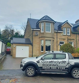 Glasgow roofing contractor new tiled roof