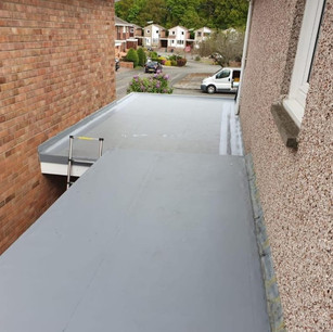 Single ply flat roof from flat roofing specialist