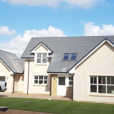 Commercial roofing services in Glasgow in new build homes partnership