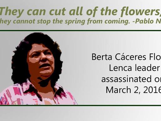 Justice for Berta Cáceres/¡Justicia para Berta Cáceres!
