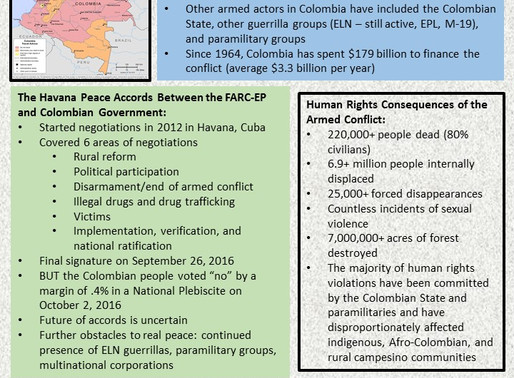 WFP Fact Sheet: The Armed Conflict and the Peace Process in Colombia