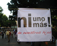 Photos from the Peace March in Oaxaca, Mexico
