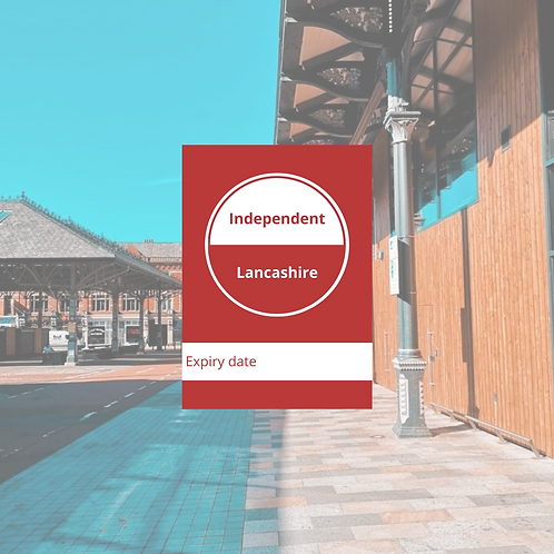 1 x Independent Lancashire Card (valid for 12 months)