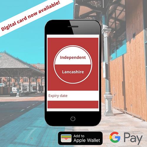 Digital Independent Lancashire Card