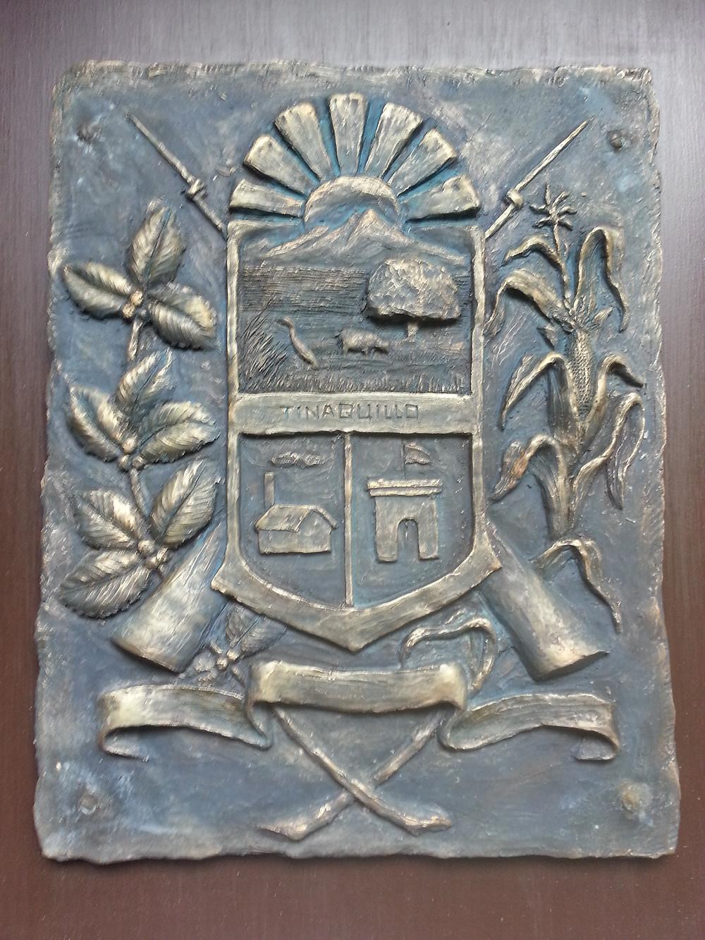 Escudo en alto relieve. Donada para Museo de Arte de Tinaquillo. 2016