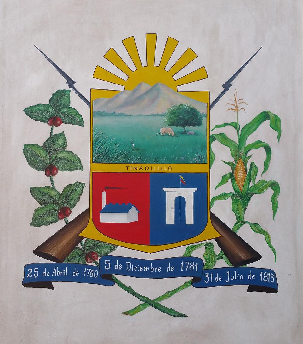 Escudo de Tinaquillo Municipio Falcon. Obra original.