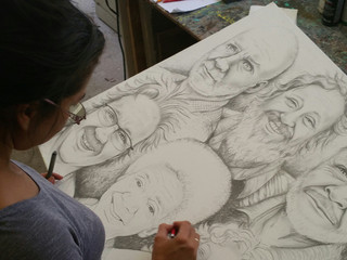 """Yelitza Diaz wins 1st prize and travel to Italy tickets. """"Flat Out Under Pressure"""" Art Sho"""