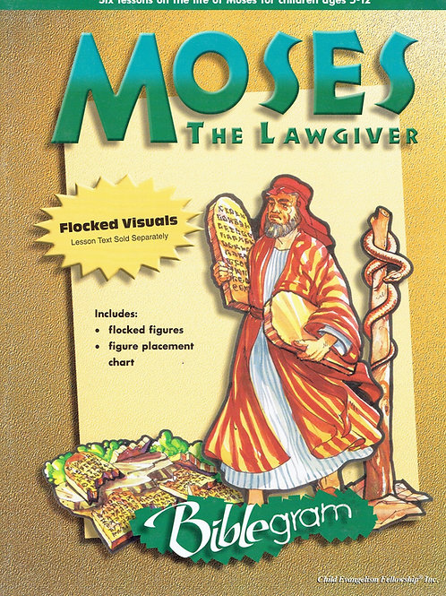Mojżesz zakonodawca flanelograf - bez tekstu