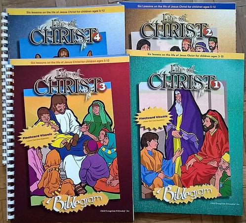 Życie Jezusa zestaw 4 części bez tekstów - wersja starsza