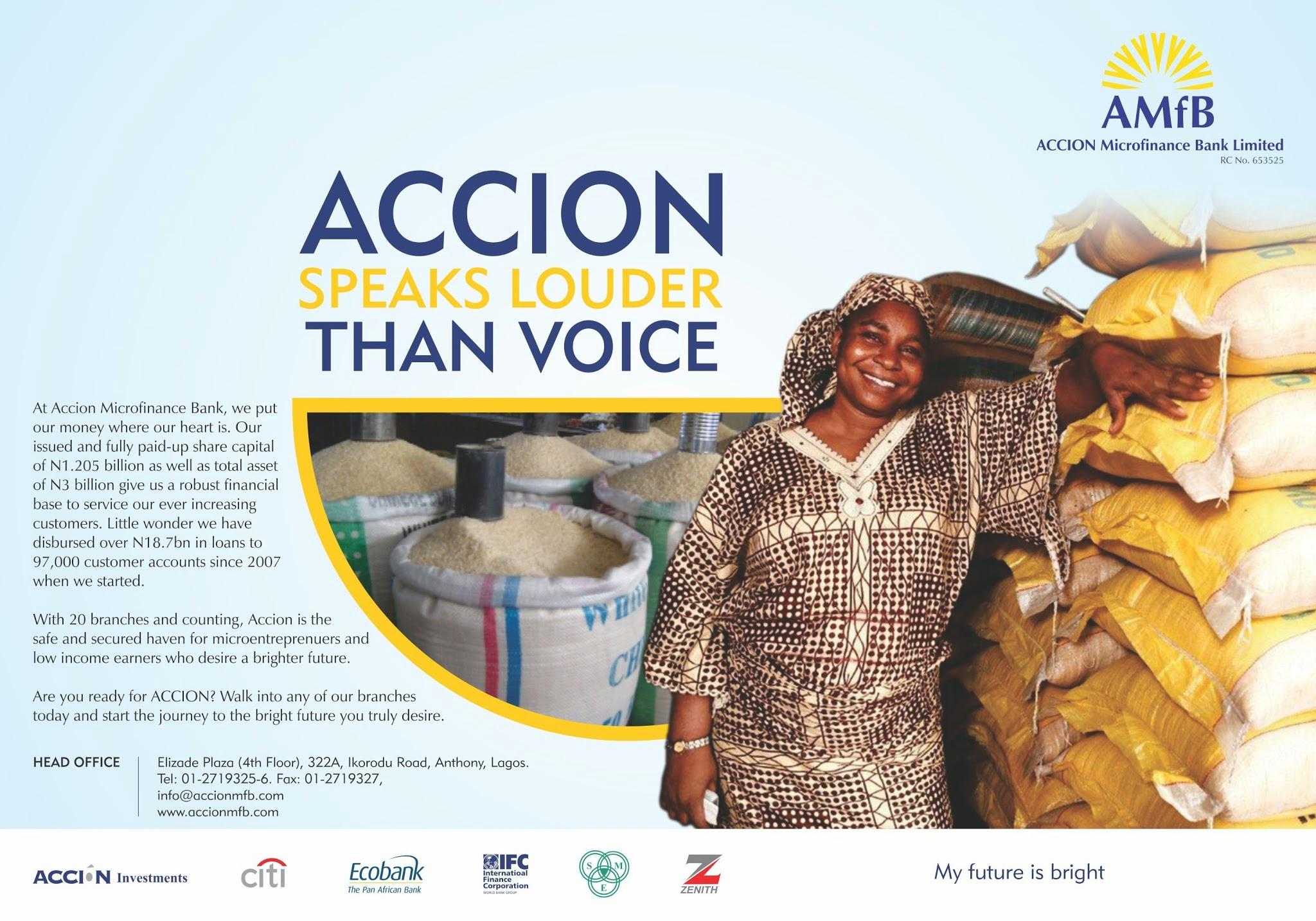 "ACCION MFB - ""Accion Speaks Louder"""