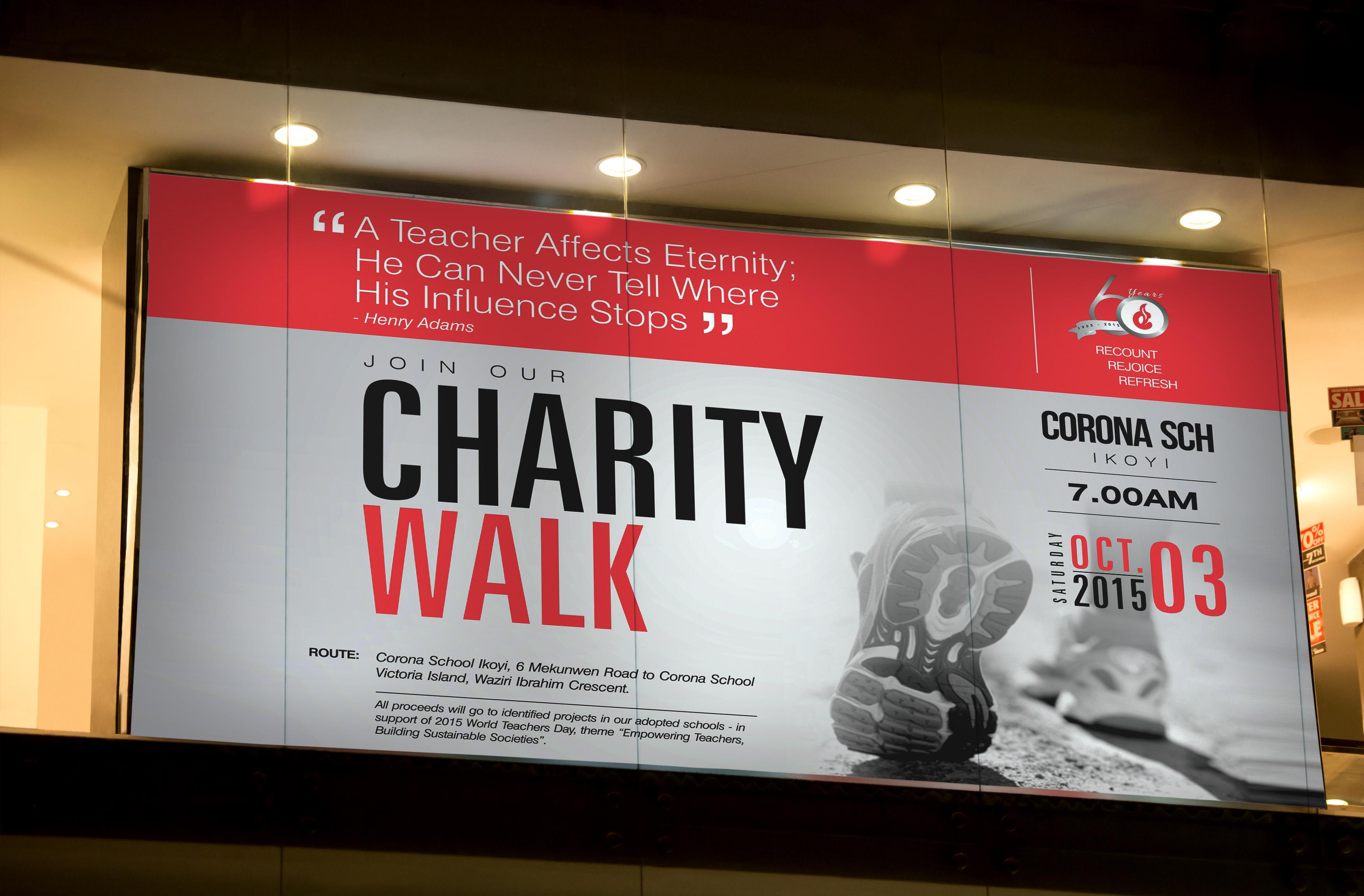 "Corona Schools' ""60TH Charity Walk"""