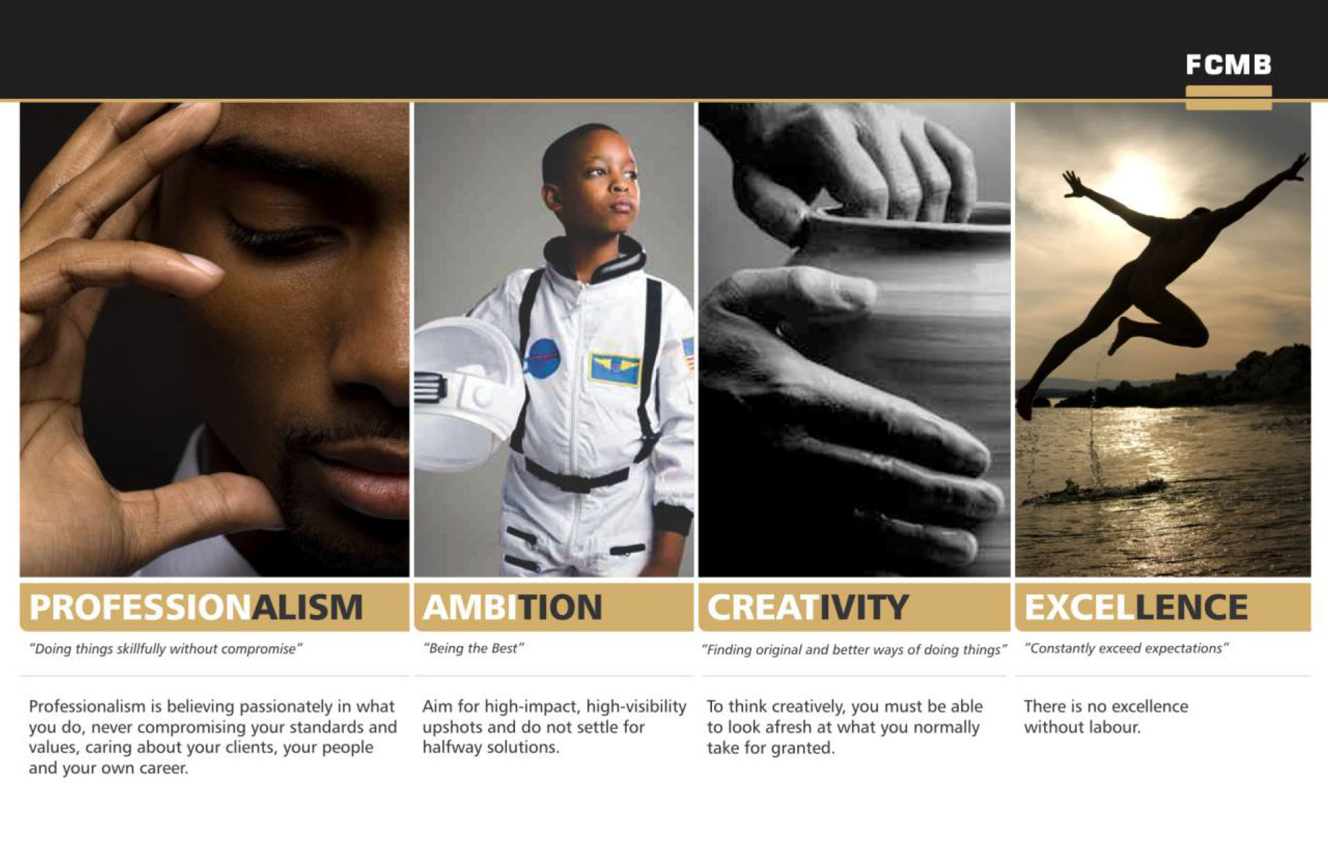 """FCMB - """"Our Core Values"""""""