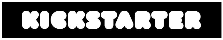 Kickstarter logo as a button linking to the Kickstarter campaign