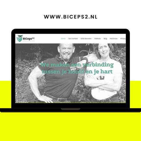 Website ontwerp Biceps 2.0