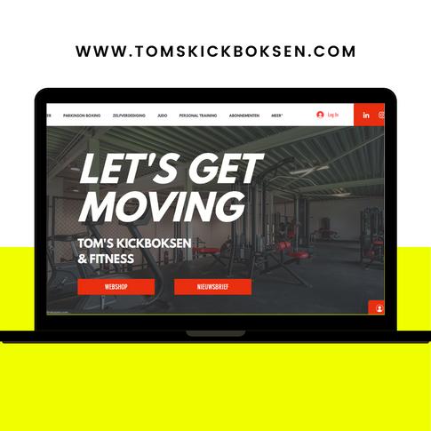 Website ontwerp Tom's Kickboksen