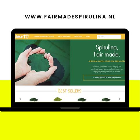 Website ontwerp Fairmade Spirulina