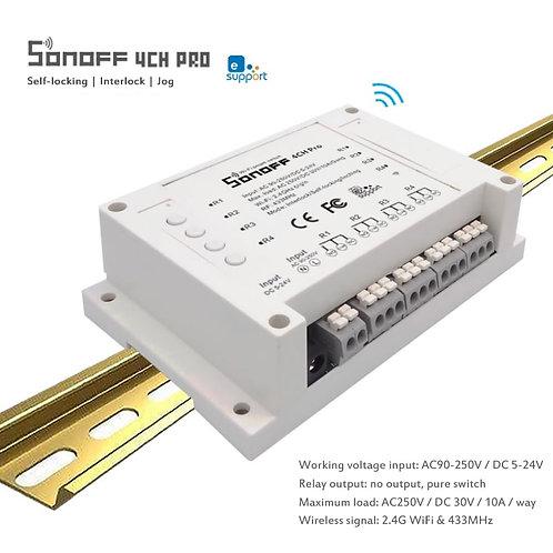 SONOFF 4CH R3/ PRO R3 Wifi Smart Switch 433MHZ Wireless Control