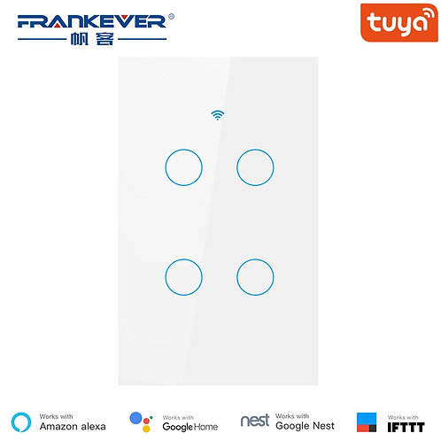 Wifi Smart Switch  1 2 3 4 Gang Tuya Smart Life App Works With Alexa Google Home