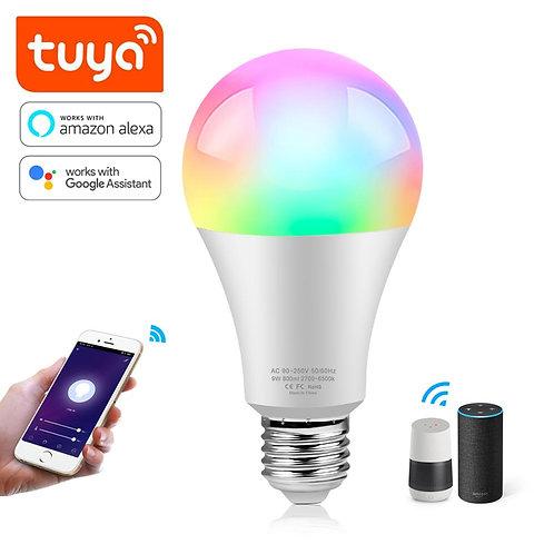 Tuya Smart Lamp 15W WIFI LED Light Bulb Smart Life RGB Bluetooth Alexa
