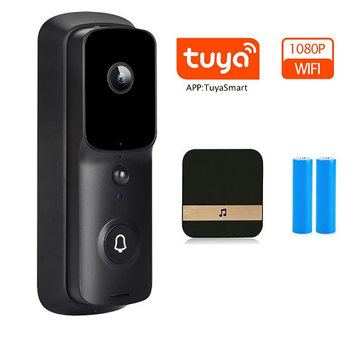 Tuya WiFi Doorbell Camera Security Door Bell Camera Outdoor 1080P