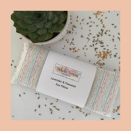 Eye Pillow - White /Multi-coloured stripes