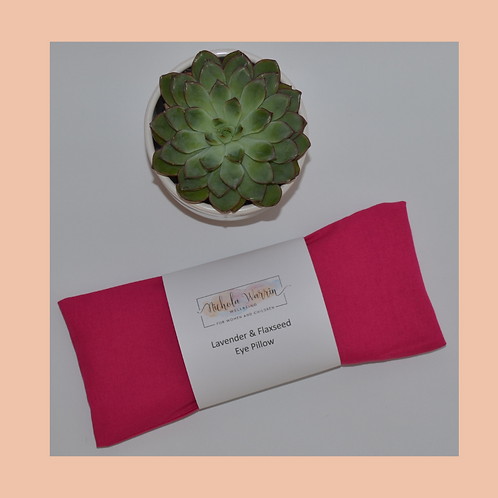 Eye Pillow - Pomegranate Pink