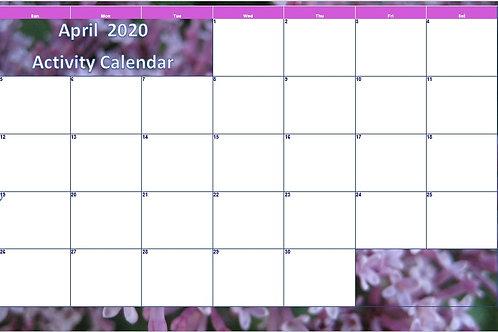 April 2020 Blank Calendar