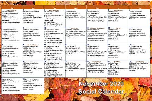 November 2020 Activity Calendar & Guidebook