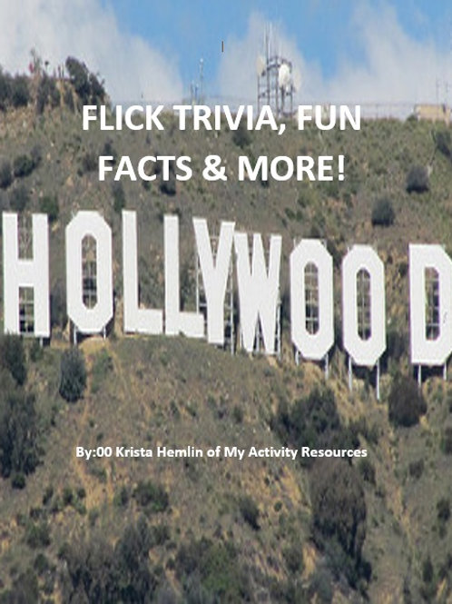 Flick Trivia Book (21 pages)