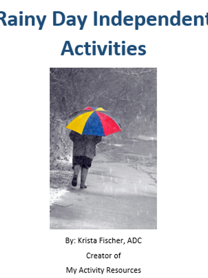 Independent Activities For A Rainy Day