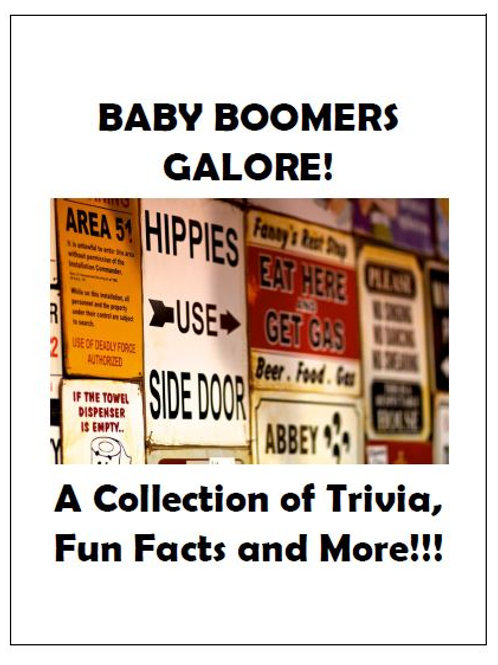 BABY BOOMERS GALORE!