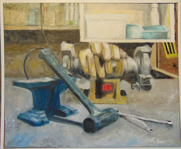 Tools of My Trade Oil on canvas 20 x 16