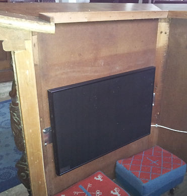 Vicars stall with infrared heater