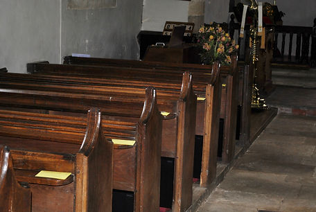 Heaters installed in the pews at St Peters church Terwick.