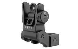 UTG® AR15 LOW PROFILE FLIP-UP REAR SIGHT WITH DUAL AIMING APERTURE