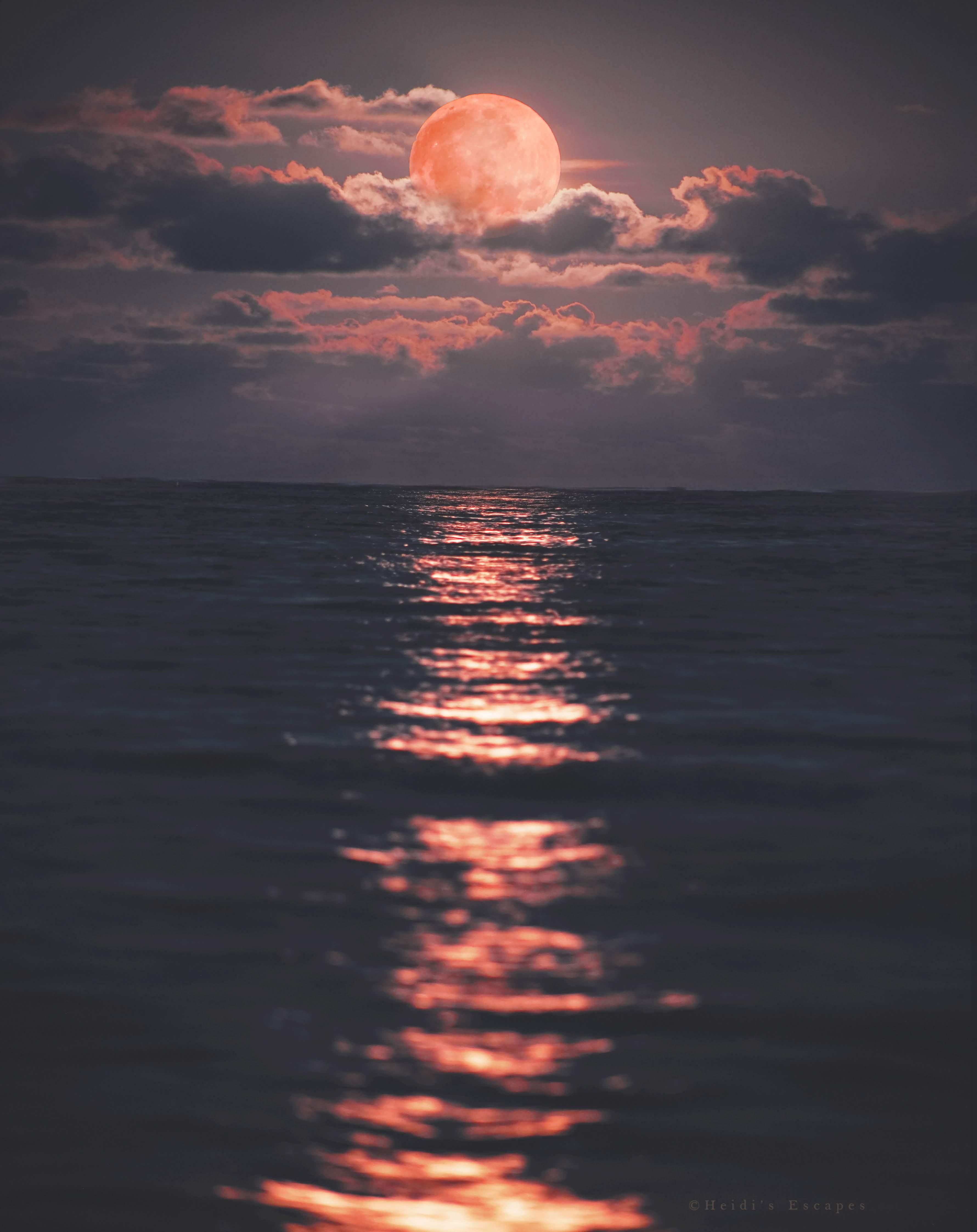 Full Moon Carribbean Sea