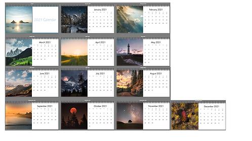 """2021 Mini Flip Desk Calendar 4""""x8"""""""