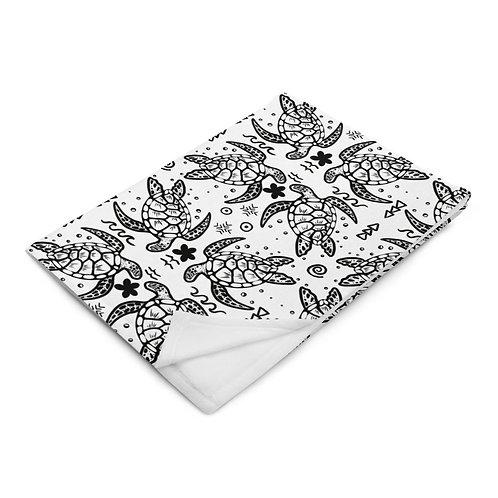 Honu Tatau- Throw Blanket