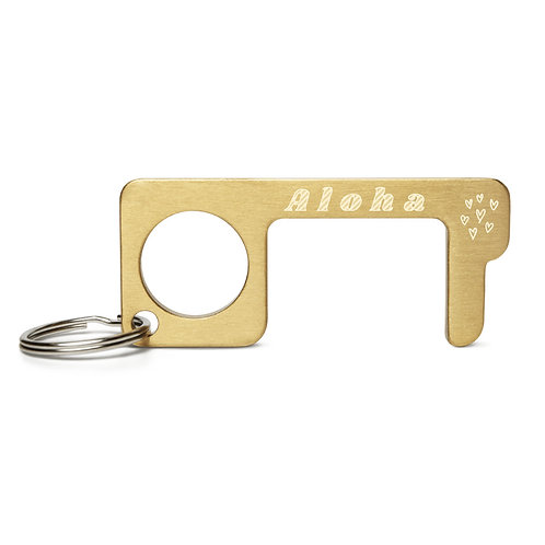Aloha- Engraved Brass Touch Tool