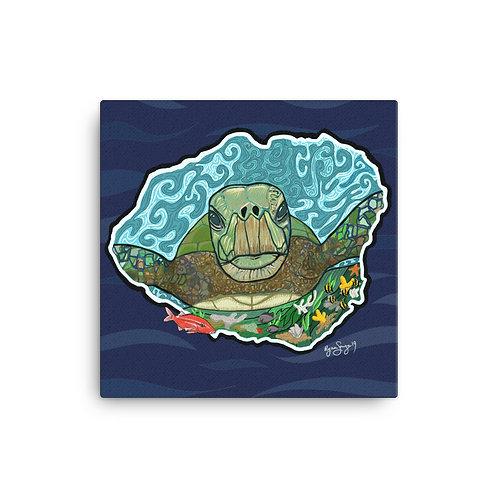 Kauai Honu Canvas