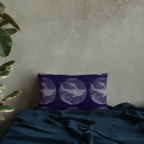 One-Line Māno and Honu- Premium Pillow