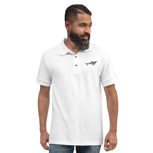 Poly Māno- Embroidered Polo Shirt