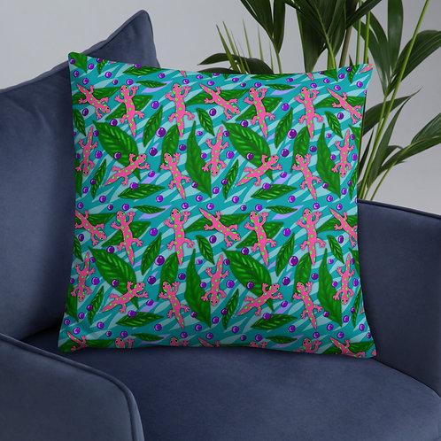 Acai and Geckos- Basic Pillow