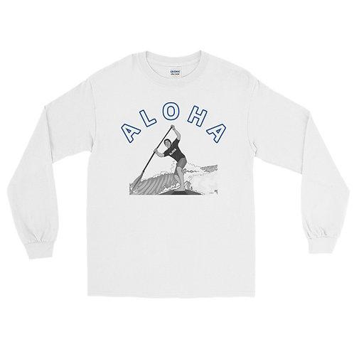 ALOHA SUP- Men's Long Sleeve Shirt