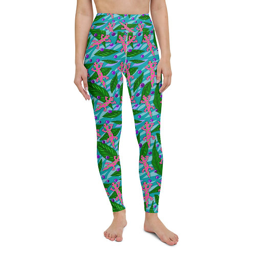 Acai and Geckos- Yoga Leggings