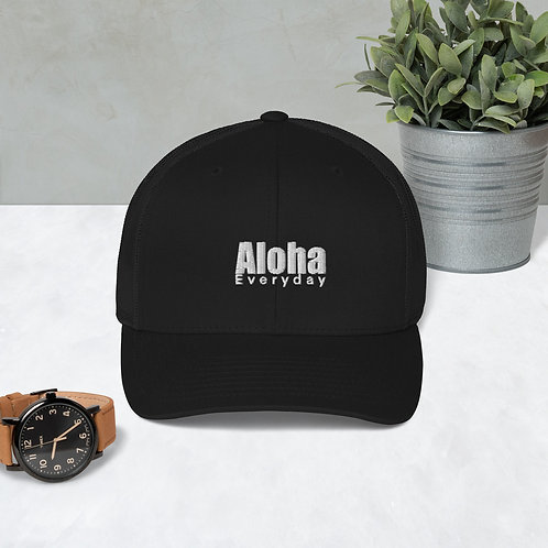 Aloha Everyday wht print- Trucker Cap