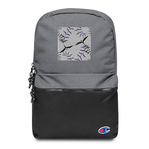 `Iwa Fern- Embroidered Champion Backpack