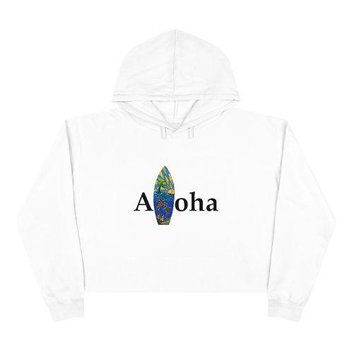 Aloha Board Crop Hoodie